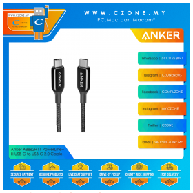Anker A8862H11 PowerLine+ III USB-C to USB-C 2.0 Cable (0.9m, Black)