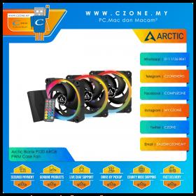 Arctic Bionix P120 ARGB PWM Case Fan (3x 120mm, 4-pin PWM, Non-LED, RGB, Remote Controlled Hub)