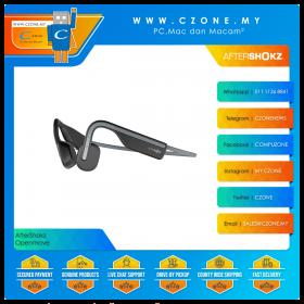 AfterShokz Openmove Wireless Bone Conduction Sports Headphones (Slate Grey)