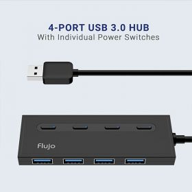 Flujo AH-56 4 Port USB3.1 Hub With Power Switches