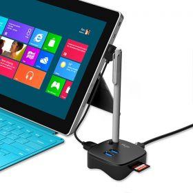 Flujo M/F Adapter for Surface Pro - 1 x Gigabit Ethernet, SD/TF C/ Reader, 2 x USB3.0