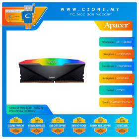 Apacer Nox 8GB (1x8GB) RGB DDR4 3200MHz - Black (AH4U08G32C28YNBAA-1)
