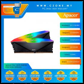 Apacer Nox 16GB (2x8GB) RGB DDR4 3000MHz - Black (AH4U16G30C08YNBAA-2)