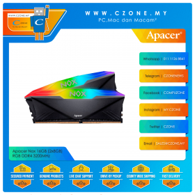 Apacer Nox 16GB (2x8GB) RGB DDR4 3200MHz - Black (AH4U16G32C28YNBAA-2)