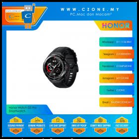 Honor Watch GS Pro Smartwatch (Charcoal Black, Black Fluoroelastomer Strap)