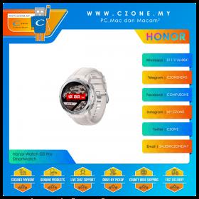 Honor Watch GS Pro Smartwatch (Marl White, Beige Fluoroelastomer Strap)