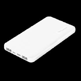 Alcatroz Tzla C10,000 Slim 10,000mAh Power Bank (White)