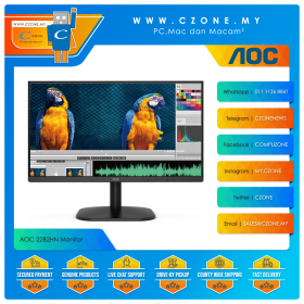 "AOC 22B2HN Monitor (21.5"", 1920x1080, VA, 75Hz, 7ms, D-Sub, HDMI, VESA)"