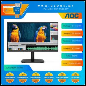 """AOC 24B2XH Monitor (23.8"""", 1920x1080, IPS, 75Hz, 8ms, D-Sub, HDMI, VESA)"""