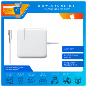 """Apple 60W MagSafe Power Adapter for MacBook Pro 13"""""""
