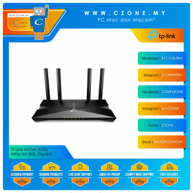 TP-Link Archer AX20 Wireless Router (WiFi6-AX1800, Gigabit)