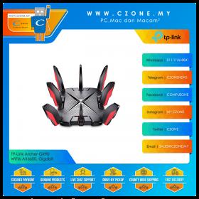TP-Link Archer GX90 Wireless Router (WiFi6-AX6600, Gigabit)