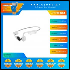 AfterShokz Openmove Wireless Bone Conduction Sports Headphones (Alpine White)