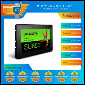 """Adata SU650 512GB 2.5"""" Sata 6Gb/s SSD (R: 520Mbps, W: 450Mbps)"""