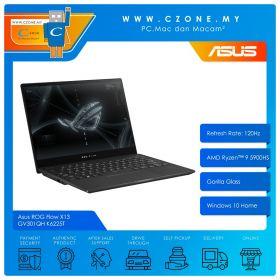"""Asus ROG Flow X13 GV301QH K6225T Gaming Laptop - 13.4"""", R9-5900HS, 3.0GHz, 16GB, 1TB SSD, GTX1650, Win 10 (Black)"""