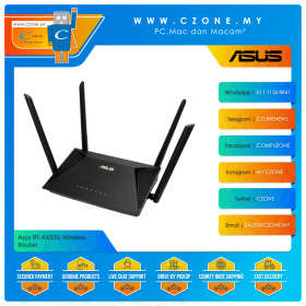 Asus RT-AX53U Wireless Router (WiFi6-AX1800, Gigabit, Black)