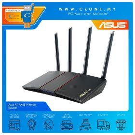 Asus RT-AX55 Wireless Router (WiFi6-AX1800, AiMesh, Gigabit)