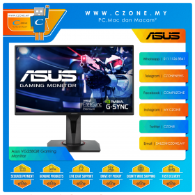 "Asus VG258QR Gaming Monitor (24.5"", 1920x1080, TN, 165Hz, 0.5ms, HDMI, DP, DVI, Speaker, VESA)"
