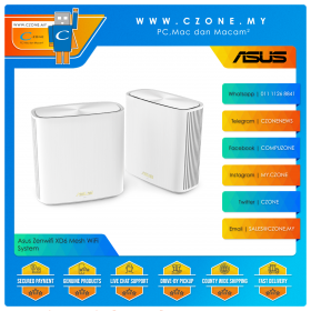 Asus Zenwifi XD6 Mesh WiFi System (Dual Band-AX5400, 2 Pack, White)