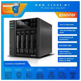 Asustor Lockerstor 4 AS6604T NAS (4-bay, QC 2.0GHz, 4GB, 2.5GBe x2, Diskless)