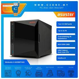 Asustor Nimbustor 4 AS5304T NAS (4-bay, QC 1.5GHz, 4GB, 2.5GBe x2, Diskless)