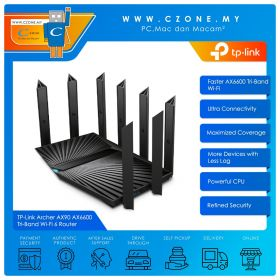 TP-Link Archer AX90 Wireless Router (WiFi6-AX6600, Gigabit)