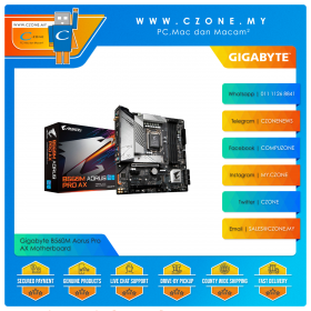 Gigabyte B560M Aorus Pro AX Motherboard (Chipset B560, WiFi+BT, mATX, Socket 1200)