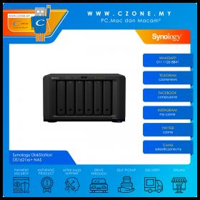 Synology DiskStation DS1621xs+ NAS (6-bay, QC 2.2GHz Base, 8GB, GbE x2, 10Gbe x1, Diskless)
