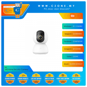 Mi 360 Home Security Camera (2K, 3MP, 110 Degree, WiFi-N, Two-Way Audio, Night Vision, MicroSD Up to 32GB)