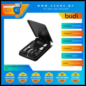 Budi BA189BK Multi-Function Box Wireless 10,000mAh Power Bank with PD 18W + 15W Wireless Charging (Black)