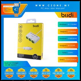Budi Car Charger (4x USB, 3x DC)