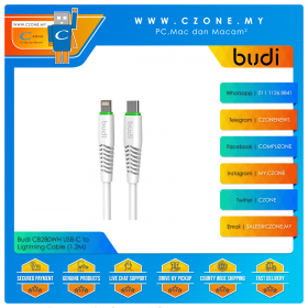 Budi CB280WH USB-C to Lightning Cable (1.2M)