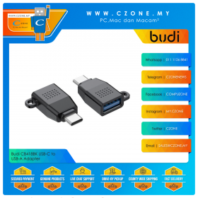 Budi CB418BK USB-C to USB-A Adapter