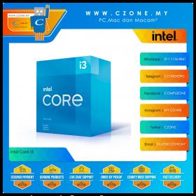 Intel Core i3-10105F Processor (3.7GHz, 4Cores, 8Threads, 6MB Cache, Socket 1200)