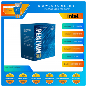 Intel Pentium Gold G6400 Processor (4.0Ghz, 2Cores, 4Threads, 4MB Cache, UHD Graphics, Socket 1200)