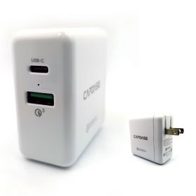 Capdase Ranger 2P33B Wall Charger (1x USB QC 3.0, 1x USB-C, Black)