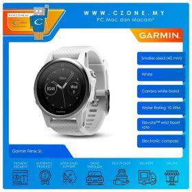 Garmin Fenix 5s 42mm Multisport GPS and Wrist-Based Heart Rate Smartwatch (Carrara White Band)