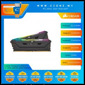 Corsair Vengeance RGB Pro SL 16GB (2x8GB) DDR4 3600MHz - Black (CMH16GX4M2D3600C18)