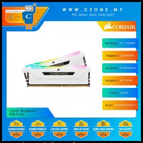 Corsair Vengeance RGB Pro SL 16GB (2x8GB) DDR4 3200MHz - White (CMH16GX4M2E3200C16W)