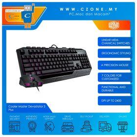 Cooler Master Devastator 3 Plus Mem-Chanical Gaming Keyboard And Gaming Mouse