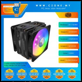 Cooler Master Hyper 212 LED Turbo ARGB Edition CPU Air Cooler (AMD, Intel, 2x 120mm Fan, ARGB LED)
