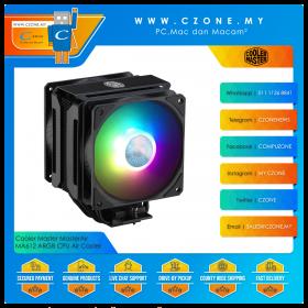Cooler Master MasterAir MA612 Stealth ARGB CPU Air Cooler (AMD, Intel, 2x 120mm SickleFlow Fan, ARGB)