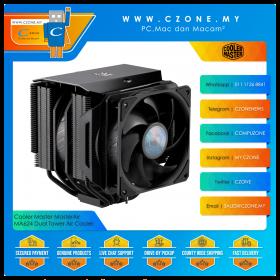 Cooler Master MasterAir MA624 Stealth Dual Tower CPU Air Cooler (AMD, Intel, 2x 120mm Fan)