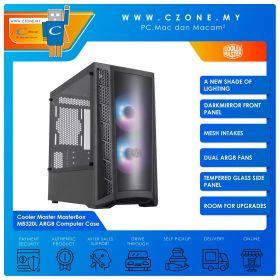 Cooler Master MasterBox MB320L ARGB Computer Case (mATX, TG, Black)