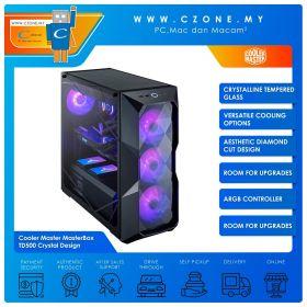 Cooler Master MasterBox TD500 Crystal Design Computer Case (EATX, TG, Black)