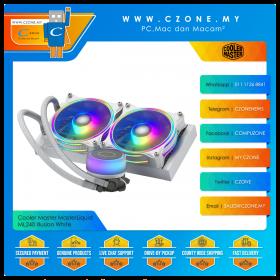Cooler Master MasterLiquid ML240 Illusion (AMD, Intel, 2x 120mm Fan, ARGB, White)