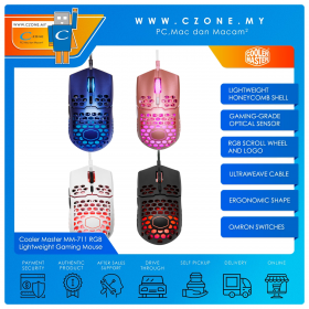 Cooler Master MM711 RGB Lightweight Honeycomb Shell Gaming Mouse