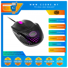 Cooler Master MM720 RGB Ultra Lightweight Claw Grip Gaming Mouse (Matte Finish)