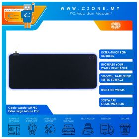 Cooler Master MP750 - Extra Large Mouse Pad (RGB, Soft, Extended, 940 x 380 x 3 mm)