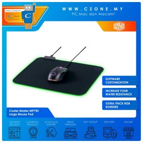 Cooler Master MP750 - Large Mouse Pad (RGB, Soft, 470 x 350 x 3 mm)